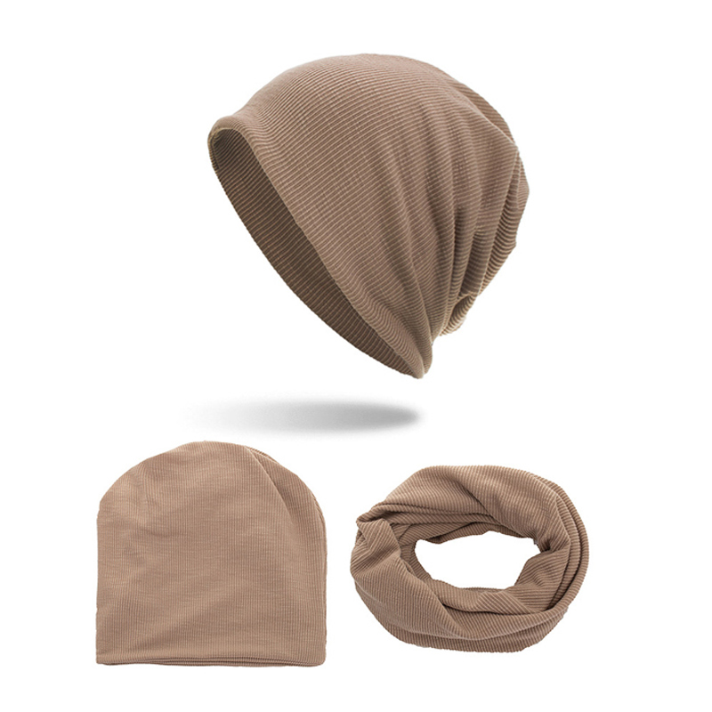 Men Winter Hat Fashion Hats Women Bonnet Scarf Rings Unisex Skullies Beanie Soft Outdoor Beanies Cotton Caps