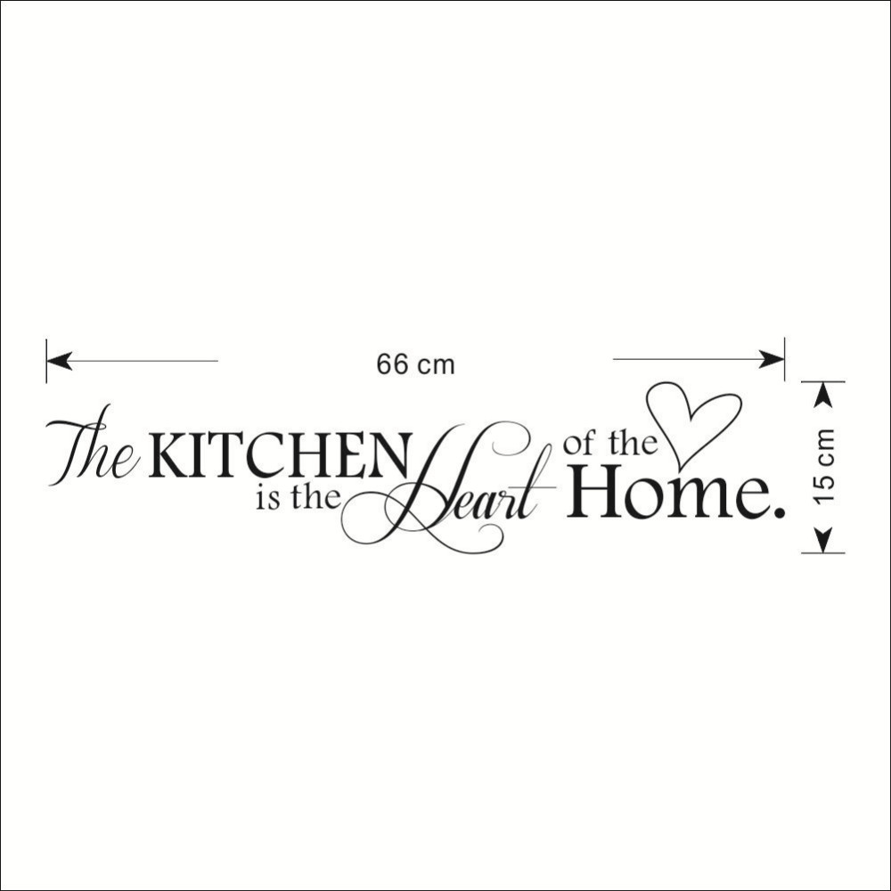 The Kitchen Is the Heart of the Home Quotes and Sayings Wall Decal ...
