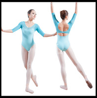 5 Pieces Lot Wholesale Long Sleeve Ballet Leotards For Women Ballet Clothes Dance Costumes Gymnastic