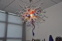 Multi Colorido Mão Soprado Arte em Vidro Estilo Japonês Luz de Teto