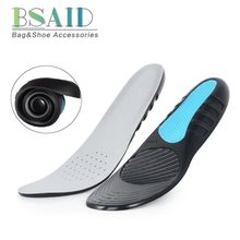 BSAID Silicone Gel Shock Absorption Insoles For Shoes Flat Foot Arch  Support Orthopedic 3D Massage Shoe Inserts Velvet Shoe Pads f9c49187e94c