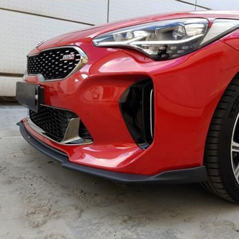 цена на For Kia Stinger FRP Fiber Glass Type M Front Lip Fiberglass Bumper Splitter Under Spoiler Body Kit Car Accessories Racing Trim