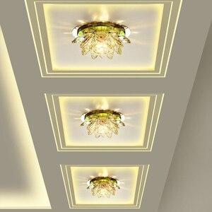 Image 2 - LAIMAIK مصابيح ليد كريستاليّة معلّقة بالسقف ضوء 3 واط AC90 260V الحديثة LED كريستال مصباح الممر ضوء مصباح قاعة الإضاءة اليقطين لوتس أضواء