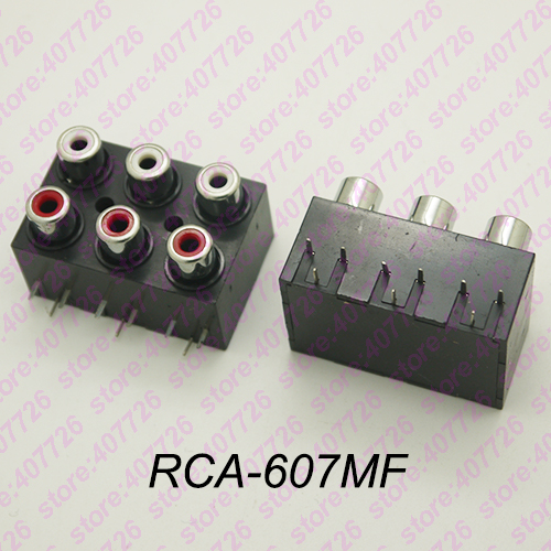 5Pcs 2/4/6 hole RCA Female Stereo audio Jack AV Audio input socket