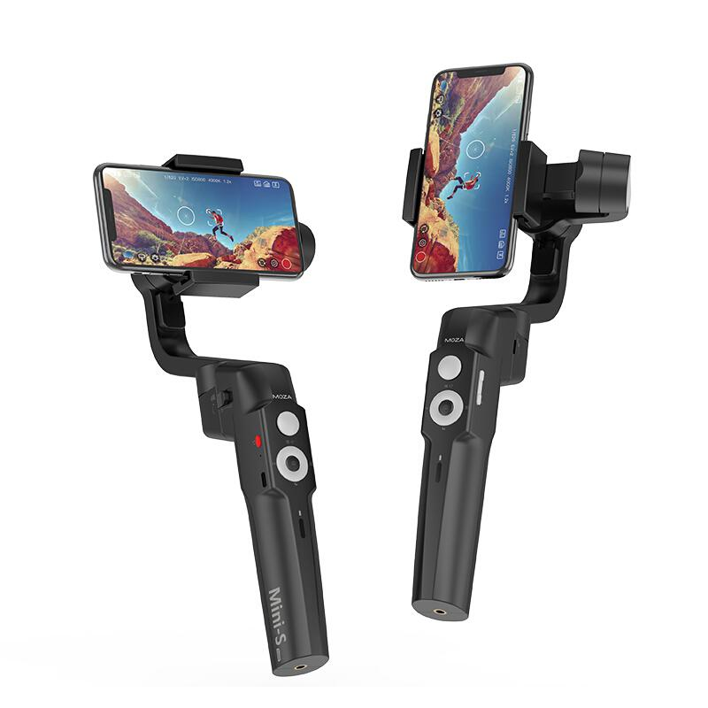 BEESCLOVER Stabilizer MOZA Mini S 3-Axis Handheld Gimbal Stabilizer For Phone Gopro Extremely Foldable Extendable Tripod R25