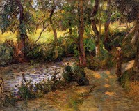 Boy by the Water by Paul Gauguin oil Painting Canvas High quality hand painted Landscape Art Reproduction