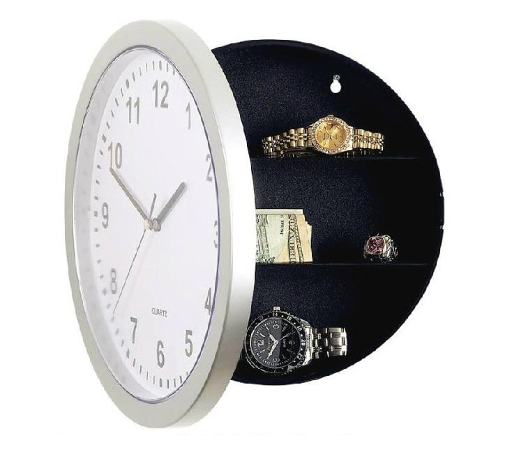Novelty Working Wall Clock Hidden Safe Modern Design Diversion Safe Storage Box With Hidden Compartment For Secret Jewelry Cash