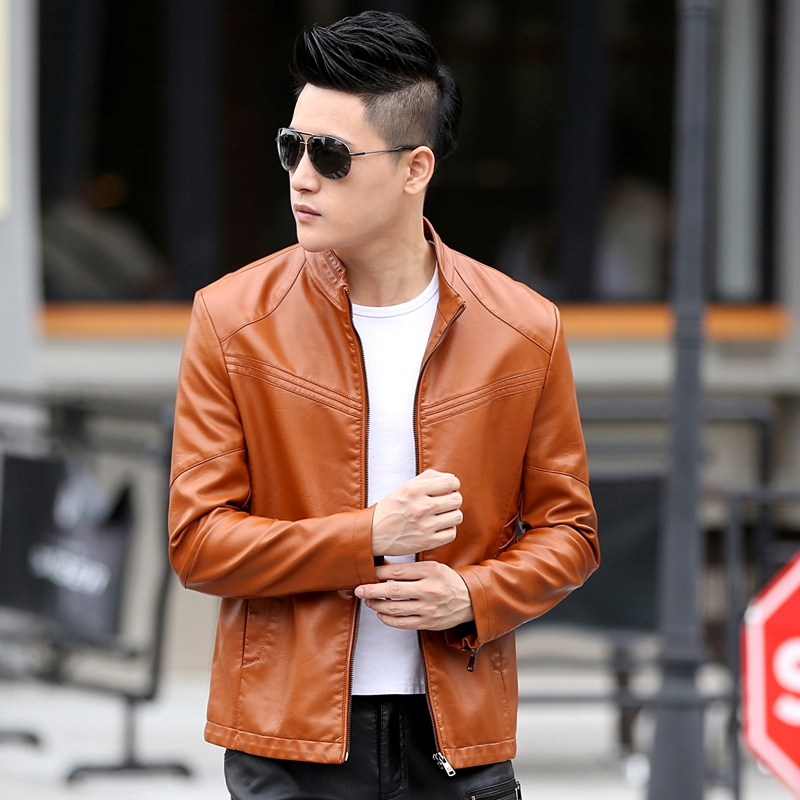 Aliexpress.com : Buy Casual Men Leather Coat Autumn Winter Long ...