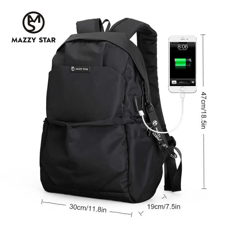 ... Mazzy Star New School Fashion Men Backpack Bag Water Proof Backpack men  External USB Charge Rucksack ... 0f538cfe0592d