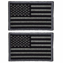 2 pieces Tactical USA Flag Patch American Flag US United States of America Military Uniform Emblem Patches