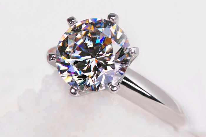 Bị Mất Tiền Bán Giải Đơn Nhẫn Bạc 925 7 Mm Sona CZ Diamant Cưới, Nhẫn Cho Nữ Kích Thước Vòng 4 5 6 7 8 9
