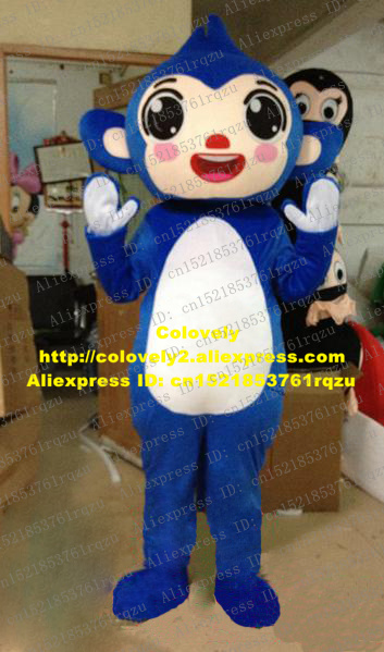Costumes & Accessories Honest Naughty Blue Monkey Mascot Costume Cartoon Character Mascotte Adult Red Nose Open Mouth Laugh White Stoamch Zz143 Free Shipping Mascot
