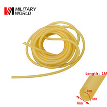 4mm x 6mm Shooting Elastic Natural Latex Slingshots Rubber Tube 1m Lengrh For Sling Shot Hunting Tubing Band Tactical Gear