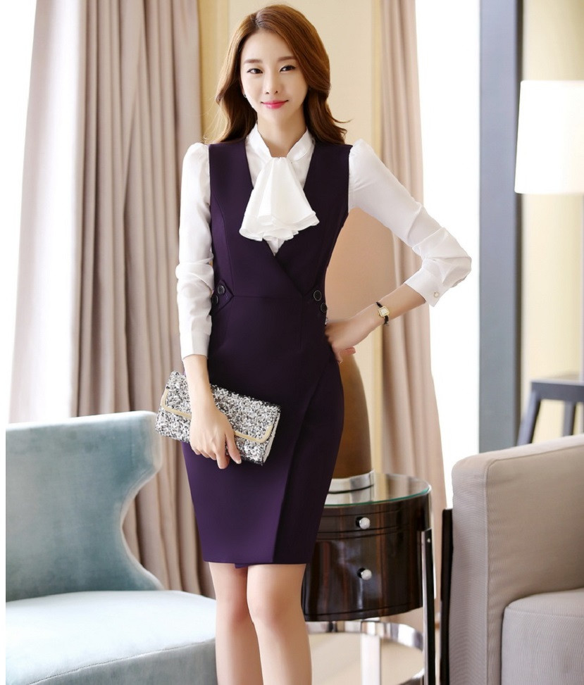New-Arrival-2016-Spring-Autumn-Formal-OL-Styles-Professional-Business-Women-Work-Suits-With-Blouses-And (1)