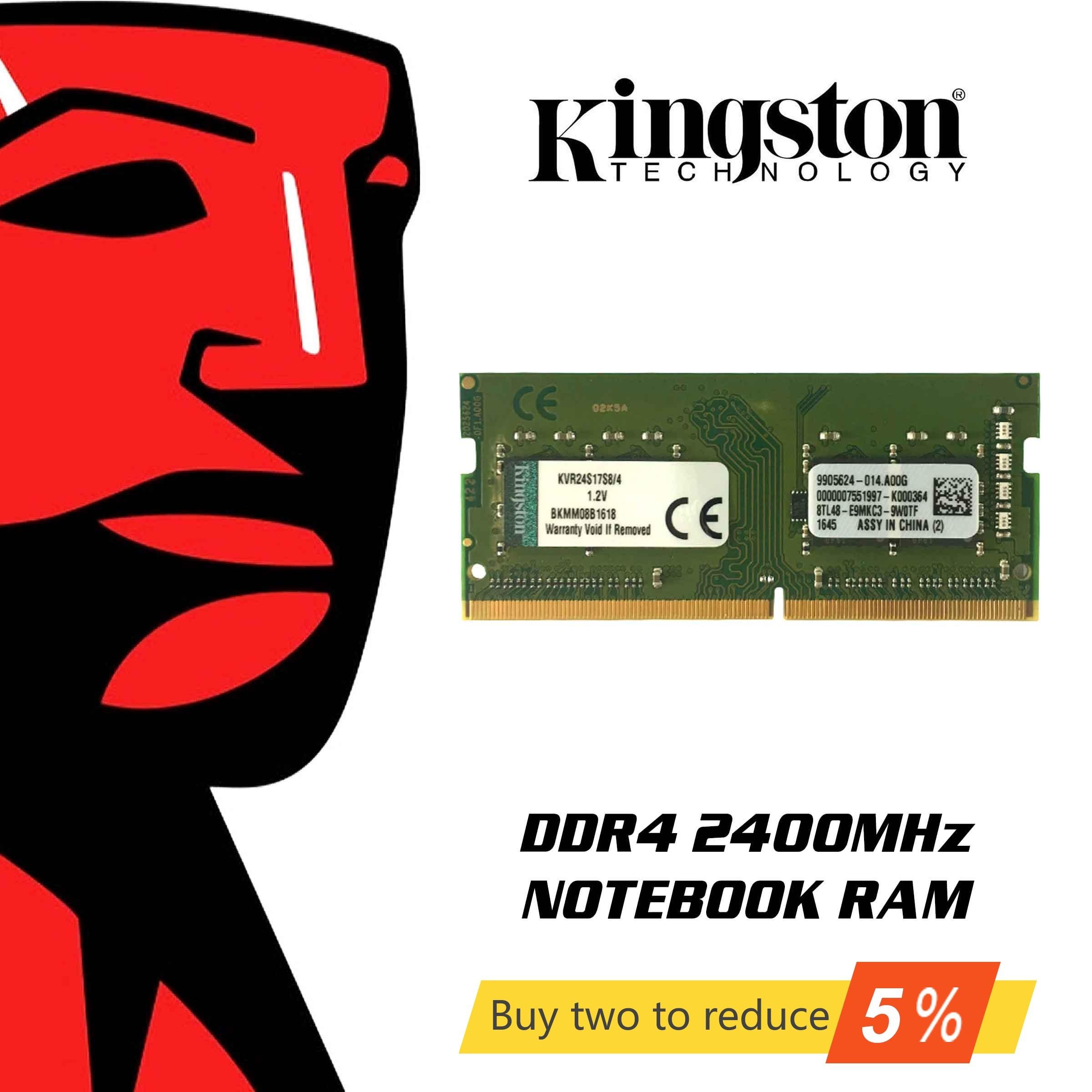 Mémoire RAM Kingston d'origine DDR4 8 GB 4 GB 16 GB 2400 Mhz mémoire pour ordinateur portable Sodimm mémoire interne pour ordinateur portable PC 8 gigaoctets gigaoctets