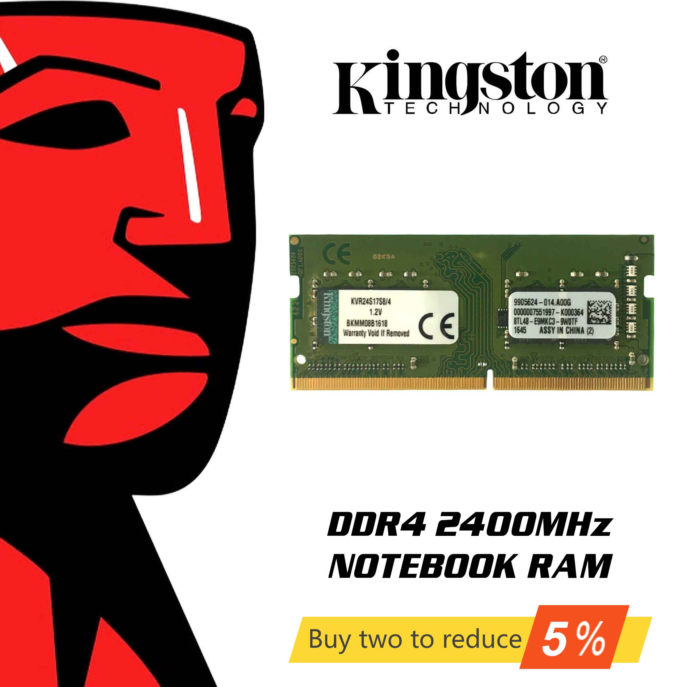 Original Kingston RAM Memory <font><b>DDR4</b></font> <font><b>8GB</b></font> 4GB 16GB 2400Mhz <font><b>Notebook</b></font> Memory Sodimm Internal <font><b>Memoria</b></font> For Laptop PC 8 Gigabytes Gigs image