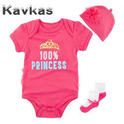 Kavkas/комплект одежды для маленьких девочек, летний хлопковый Детский комбинезон с короткими рукавами, Одежда для новорожденных, roupa de Bebes