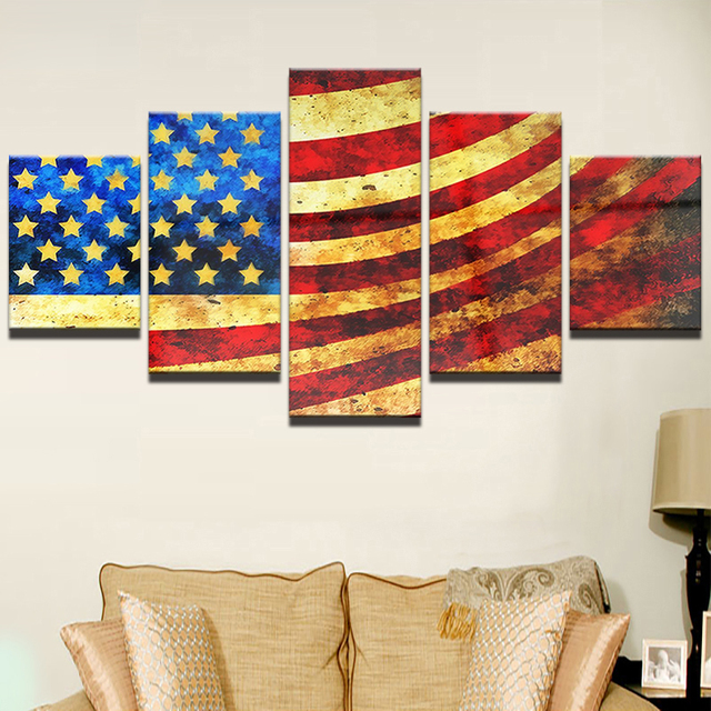Modular Canvas HD Home Decor Prints Paintings Wall Art Framework Drop  Shipping Home Decor 5 Pieces