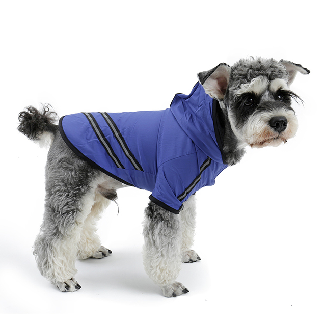 Dog's Reflective Stripes Raincoat
