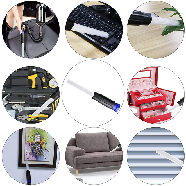 Dusty Cleaning Brush Universal Vacuum Attachment Tiny Tubes Dust Cleaner Dirt Remover Vacuum Cleaning Tools For Home Car Pet