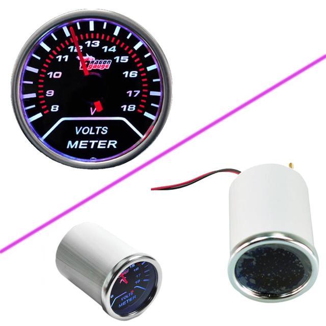 "EE suporte Car Motor Universal Fumaça Len 2 ""52mm Indicador Volt Tensão Bitola Métrica XY01"