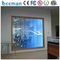 Leeman glass window transparent LED advertising screen/display