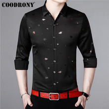 COODRONY Men Shirt Autumn Business Casual Shirts Long Sleeve Cotton Shirt Men Streetwear Fashion Floral Camisa Masculina 96013 микрофон saramonic uwmic15 sr hm15