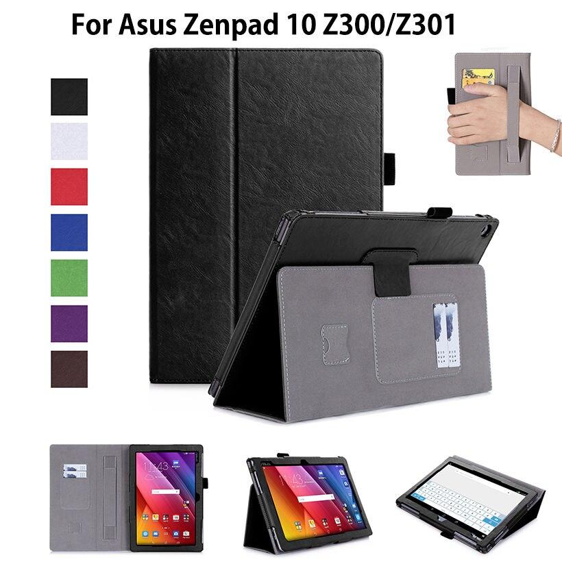 Cas de luxe Pour ASUS Zenpad 10 Z301MFL Z301ML 10.1 couverture Fondamentale Stand Tablet Cas Pour Zenpad 10 Z300M/C Z300CL Z300CNL + Film + Stylo