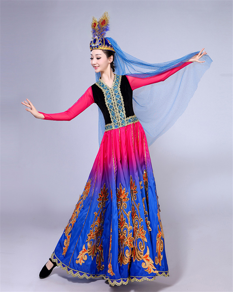 d0b3b9966f4f Xinjiang Uygur dance costume female adult new ethnic minority style ...