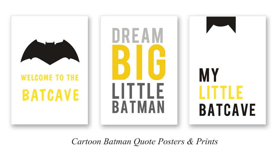 Funny Batman Quotes Posters Prints Superhero Humor Canvas Painting Nursery Wall Art For Kids Room Home Decoration Pictures