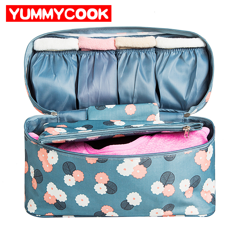 Travel Women's Bra Storage Bags Lady Cosmetic Makeup Cloth Underwear Organization Weekend Overnight Underwear Accessories