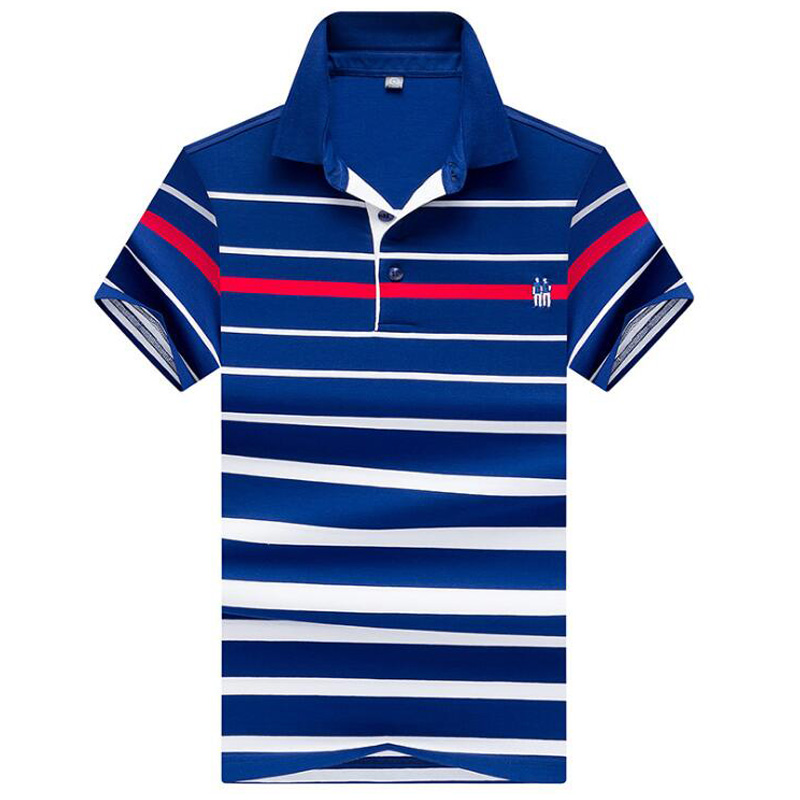 2018 New Summer High Quality Cotton Brand Men's   Polo   Shirt Business casual striped shirt   polo   men Solid   polo   shirts