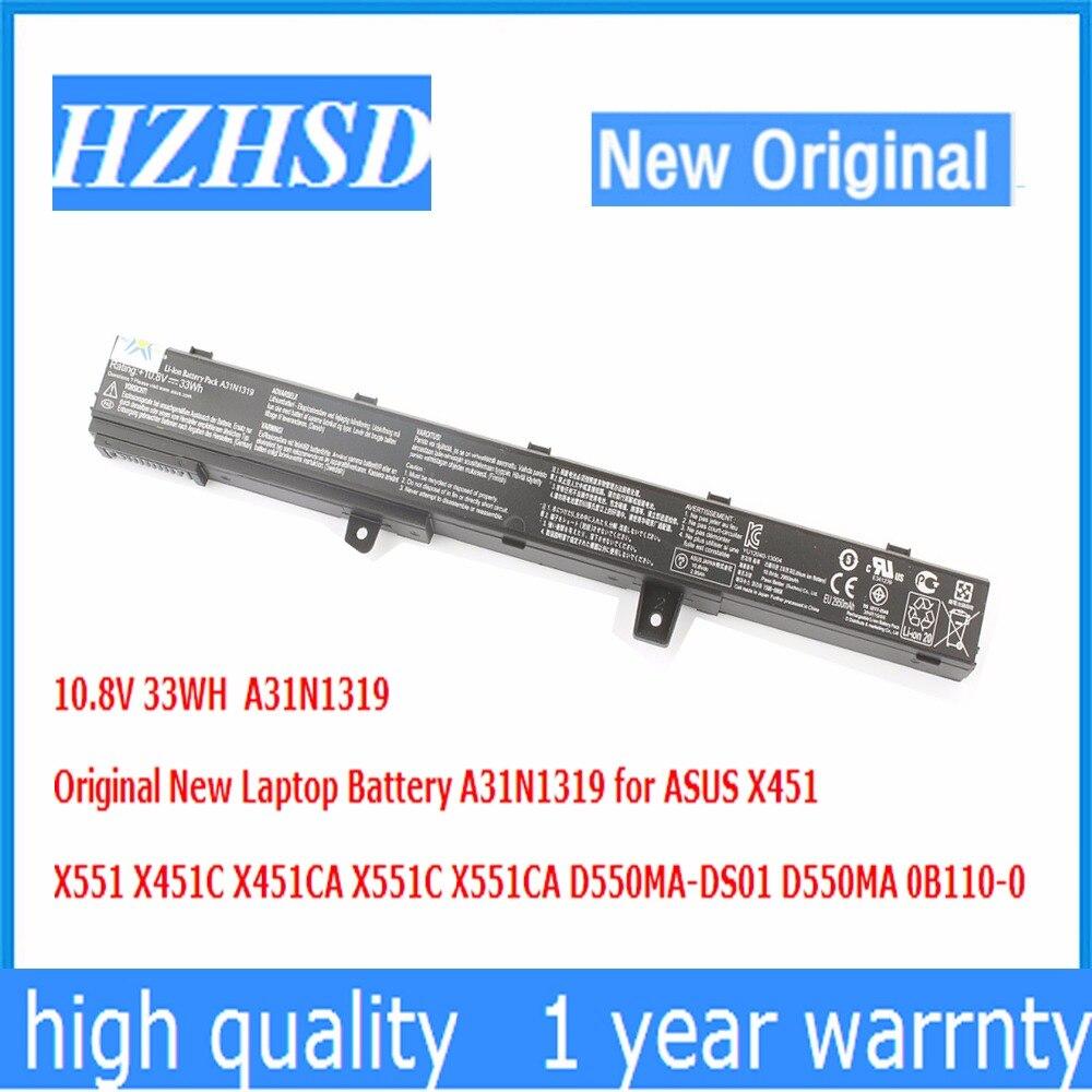 10.8V 33WH Original New A31N1319 Laptop Battery for ASUS X451 X551 X451C X451CA X551C X551CA D550MA-DS01 D550MA 0B110-0