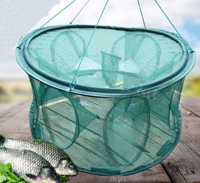 new hot sale fish trap fishing net foldable fish net 5