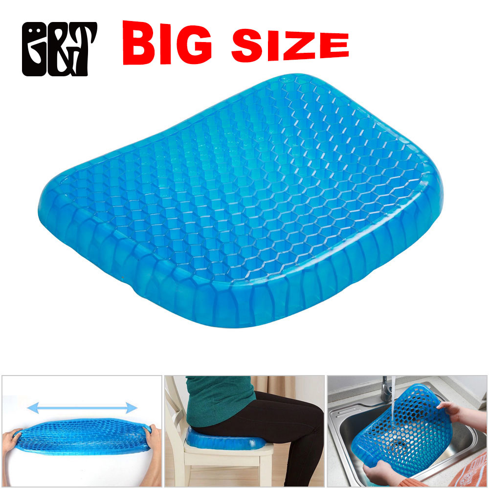 GT Big Size Flexible Gel Seat Cushion Breathable Orthopedic Honeycomb Car Sofa Cushion Cervical Health Care Pain Release Cushion(China)