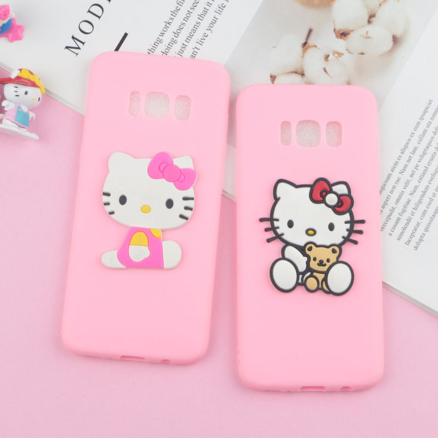 9e6d50773 Lovely Hello Kitty Cat Case for Samsung Galaxy Galaxy M10 M20 S10 Lite S9  Plus S8 S7 Edge S6 S3 S4 Note 3 4 5 8 9 Soft Cover