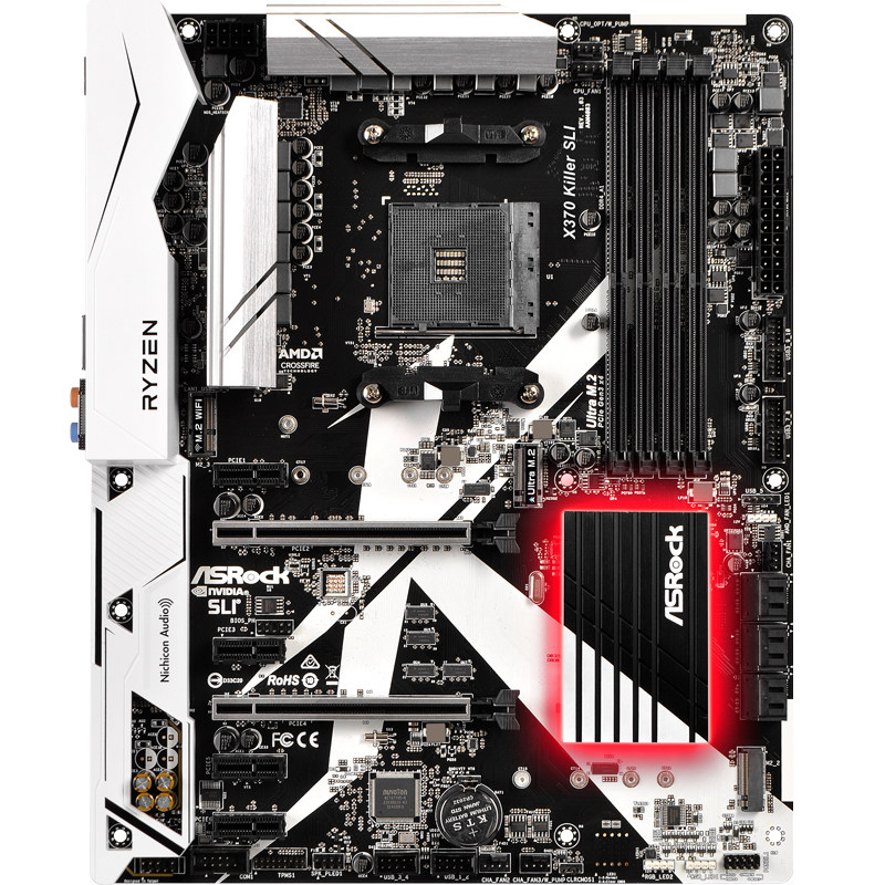 X370 Killer SLI AM4 interface Computer motherboard support 1700X