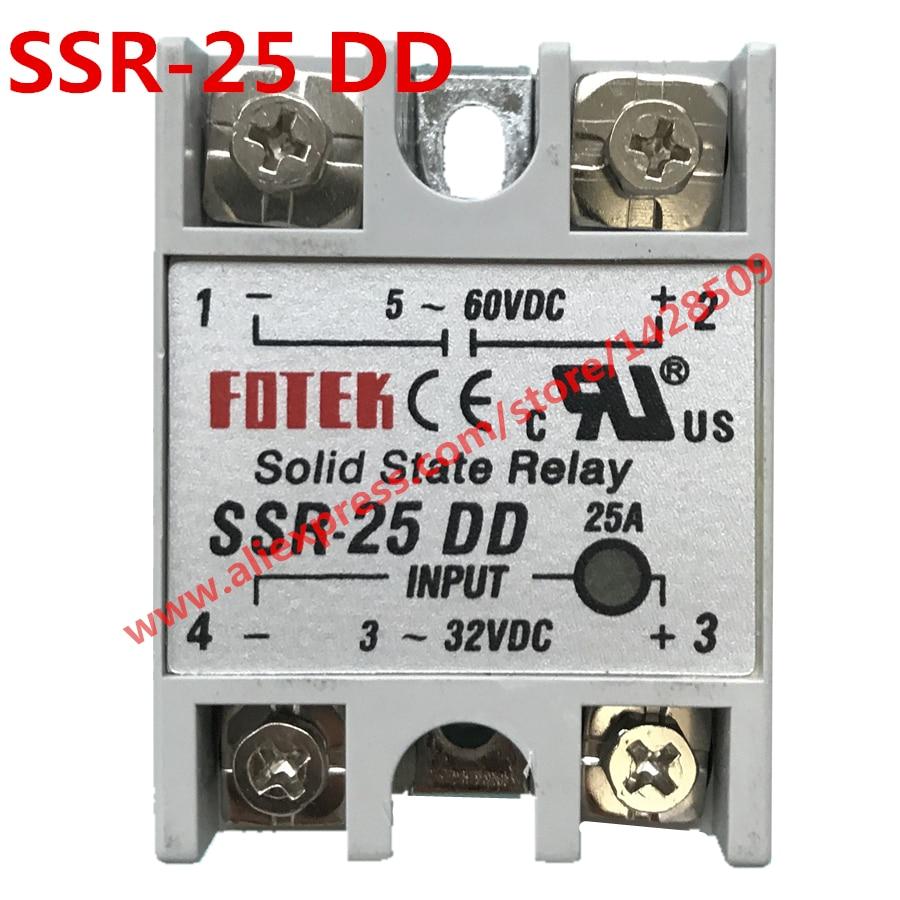все цены на  High Quality 1 Piece Solid State Relay SSR DC Control DC SSR-25 DD 3-32V DC To 5-60V DC  онлайн