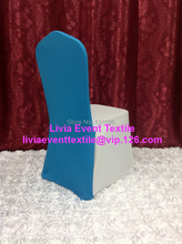 100pcs Extra Thicker #7 Turquoise Blue  Lycra Cover Hood& &Chair Back Caps& Cover Hood for Wedding Events &Party Decoration
