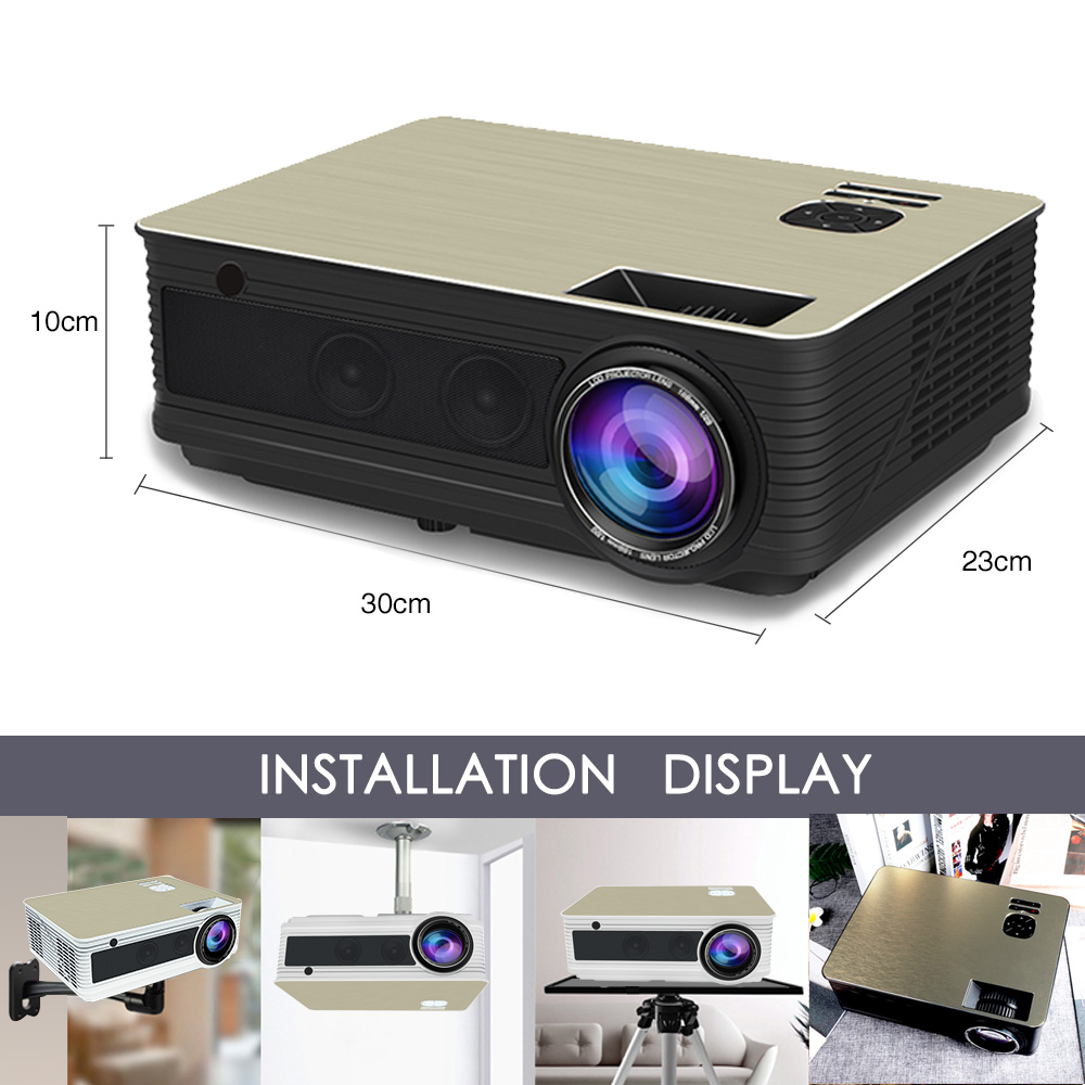 Hd Projector Td86 5500 Lumen Android 6.0 Wifi Bluetooth Projector (optioneel) Voor Full Hd 1080 P Led Tv Video Projector