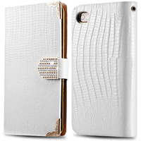 Luxury Lizards Grain Case For Iphone 5 5S 5G Fashion Flip Leather Case Wallet