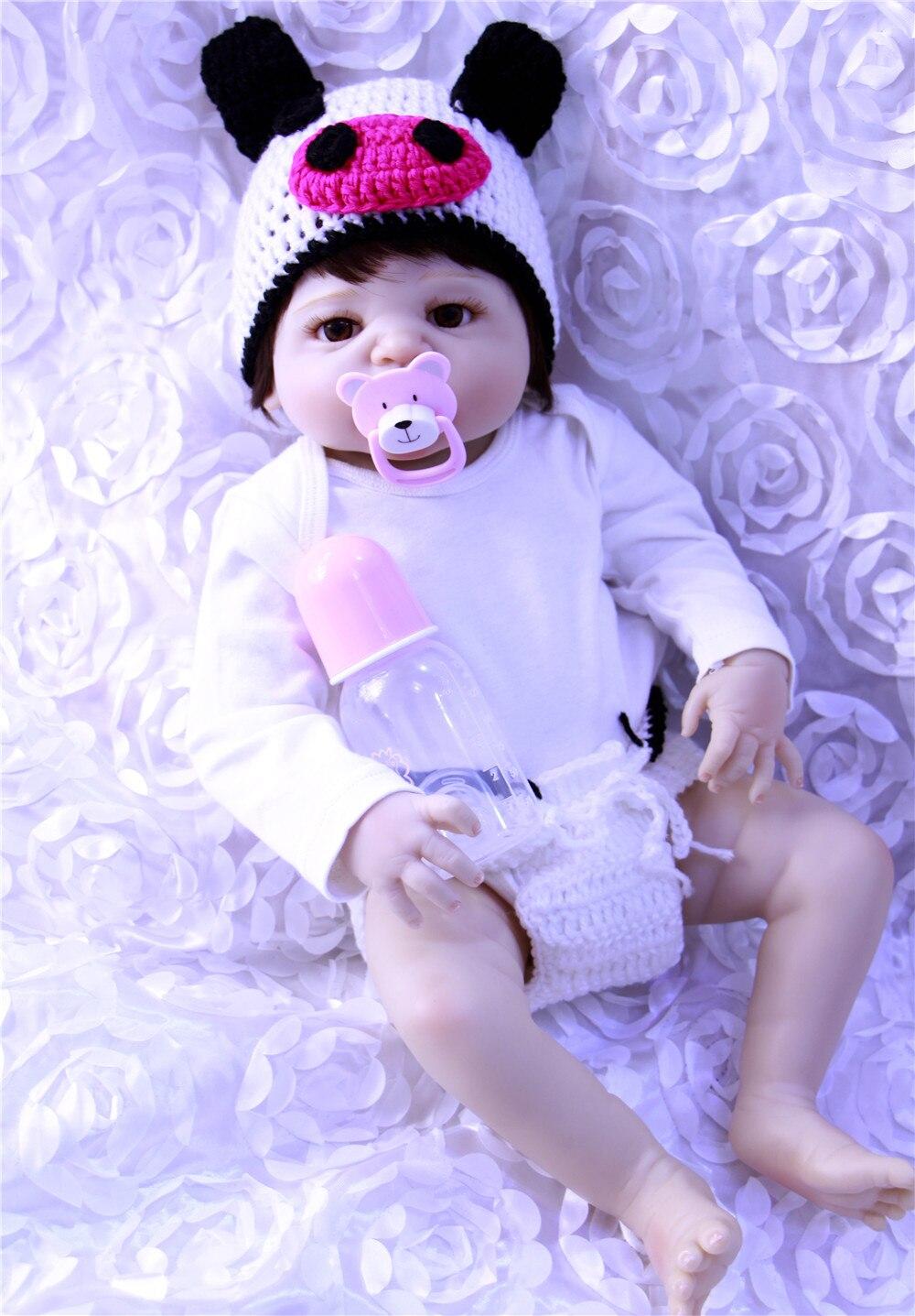 23 pouces corps en Silicone Bebes Reborn fille poupée réel vivant princesse bébé jouet dans un beau Dressing cadeau mignon enfants jouer jouets