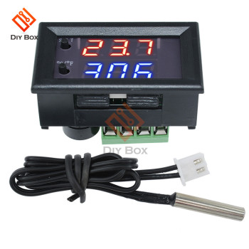 W1209WK W1209 WK DC 12V LED Digital Thermostat Temperature Control Thermometer Thermo Controller Switch Module + NTC Sensor taidacent ntc waterproof temperature controller w1209s digital dual display 12 volt thermostat switch digital thermostat module
