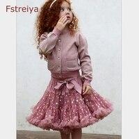 Baby Girl Tutu Skirt Above Kenn Mini Dress Kids Fluffy Skirts Children Ballet Pettiskirt Girls Tulle