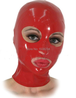 Latex Mask Rubber Mask Sexy Lingerie Sexy Latex Hoods Mask Open Monochrome Common Hood