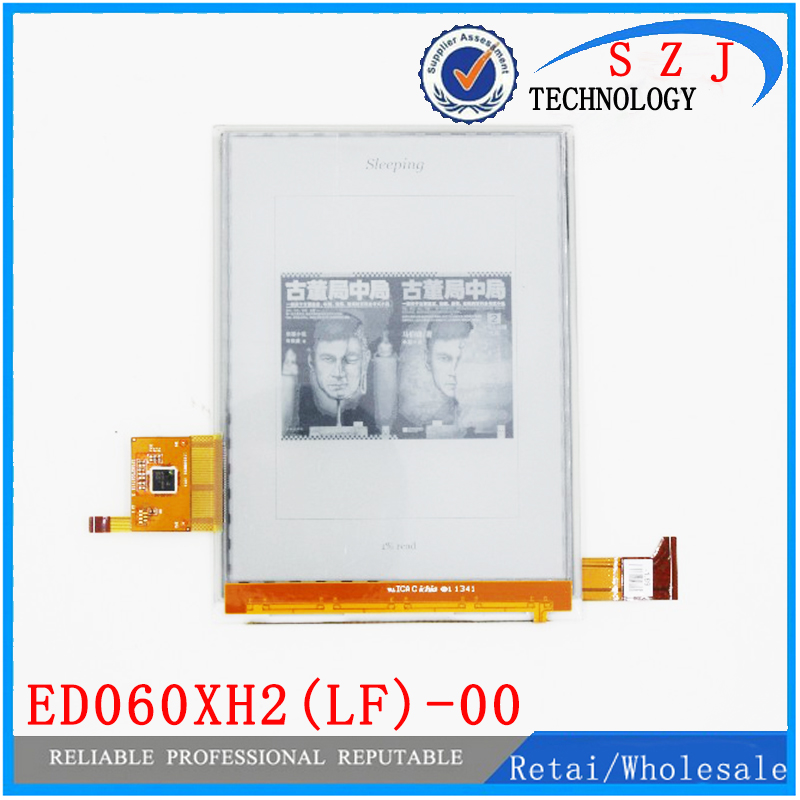 New 6'' inch LCD display ED060XH2(LF)-00 ED060XH2 E-ink HD screen with touch screen for ebook reader Free shipping free shipping new lcd display screen for olympus pen e m1 e p5 em1 ep5 repair part touch