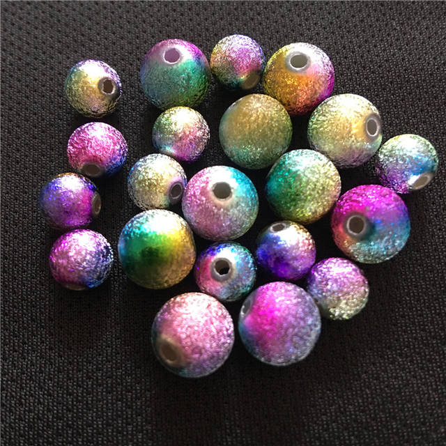 US $1 64 7% OFF 2019 Kid Acrylic Beads DIY Fluorescent Neon Loom Beads Loom  Bands Rainbow Charms Mixed Colors 100Pcs/Lot 4/6/8/10mm High Quality-in