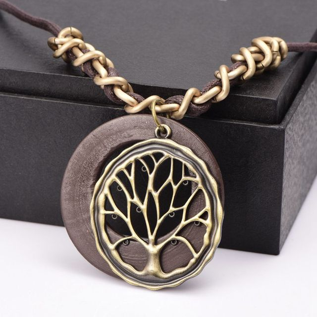 art long wood new pendant necklaces picture necklace mandala meditation jewelry design item glass