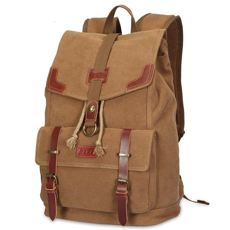 ФОТО 2016  Europe and America spring and summer casual retro canvas shoulder bag men travel bag schoolbag men backpack K922