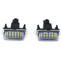 New 2Pcs 18-SMD LED Xenon License Plate Light Car-styling For Toyota CAMRY 2012-2015